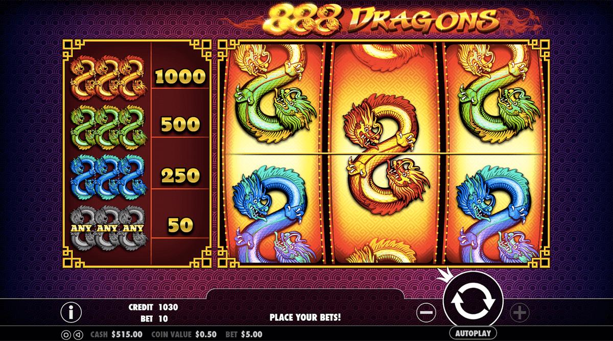 888 Dragons Slot (สล็อตออนไลน์) 🐲เล่นฟรีหรือเงินจริง