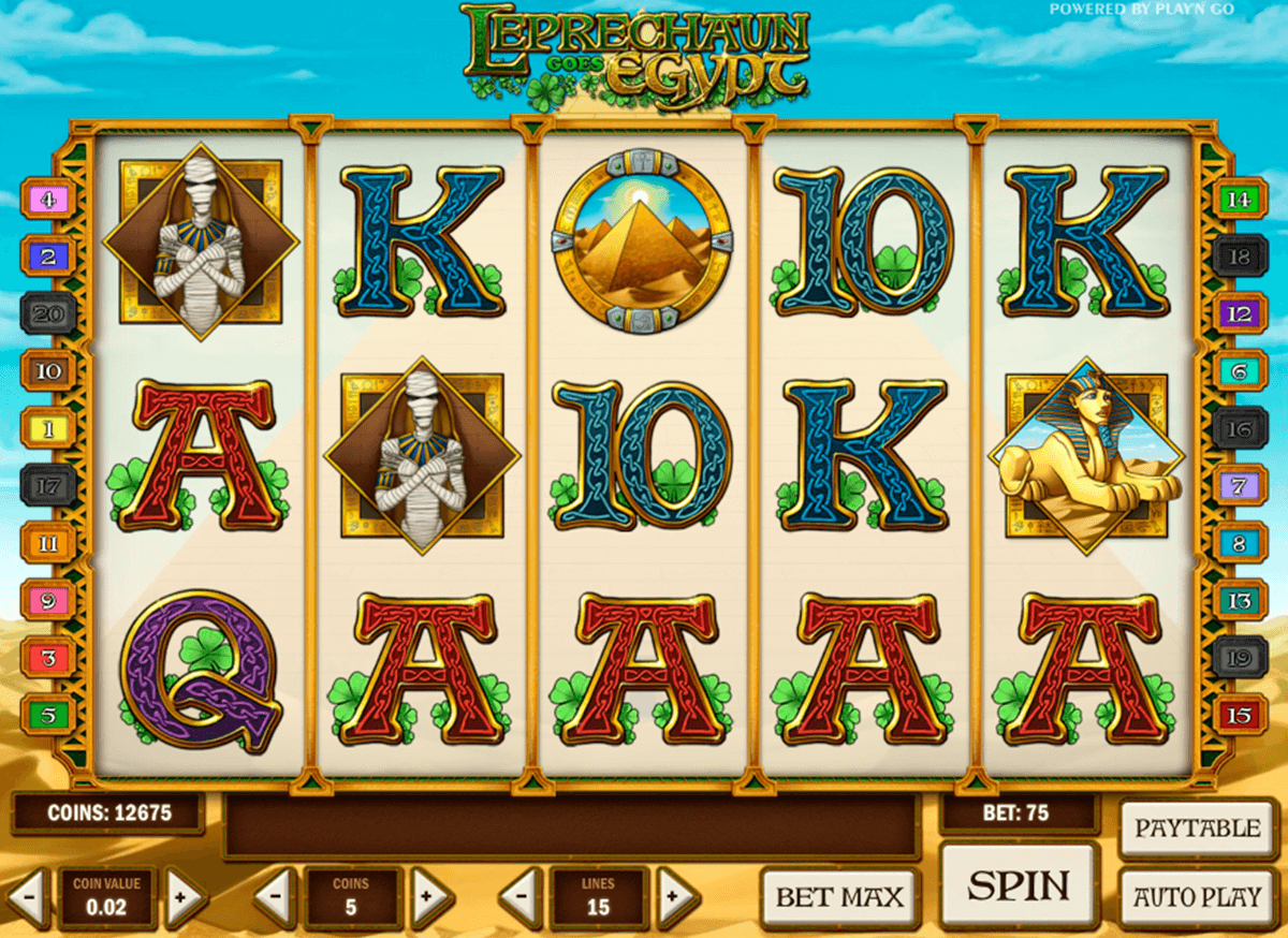 leprechaun goes egypt playn go