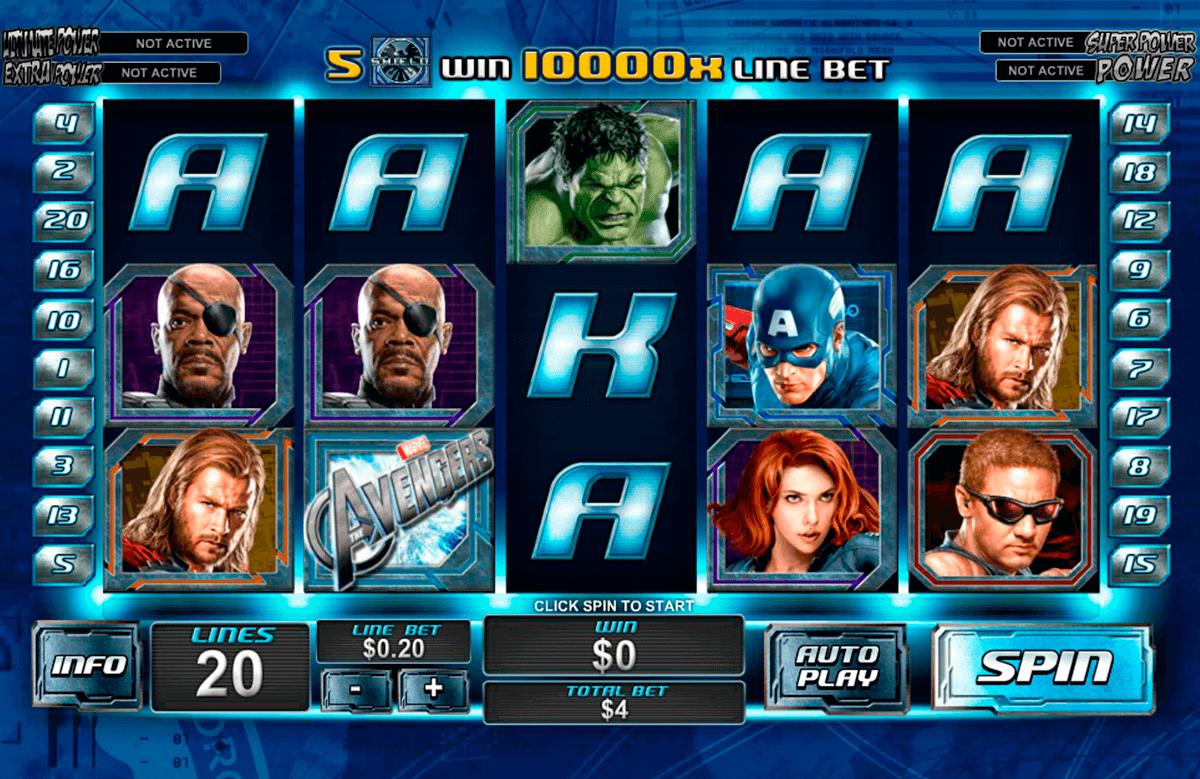 the avengers playtech